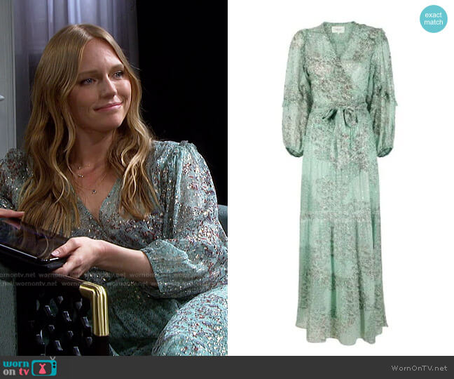 Oriane Dress by ba&sh worn by Abigail Deveraux (Marci Miller) on Days of our Lives
