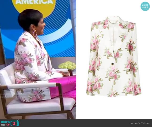 Flora Print Blazer by Paco Rabanne worn by Tamron Hall on GMA