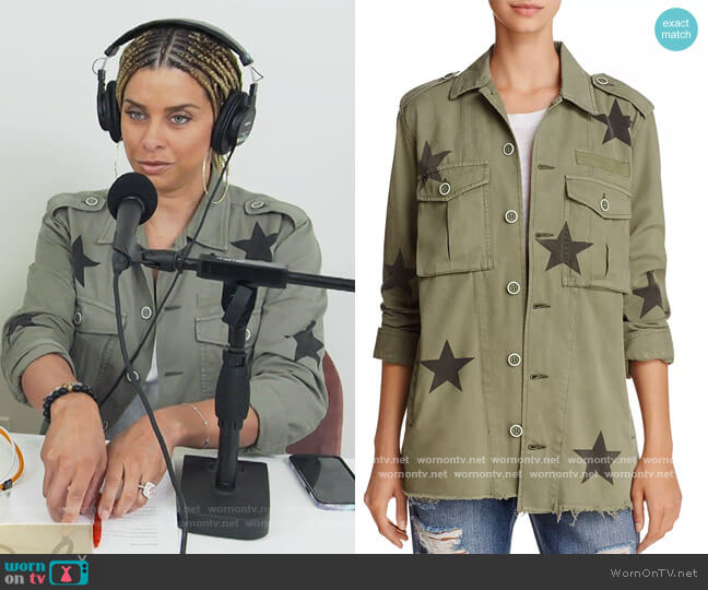 Camilo Star Print Military Jacket by Pistola worn by Robyn Dixon  on The Real Housewives of Potomac