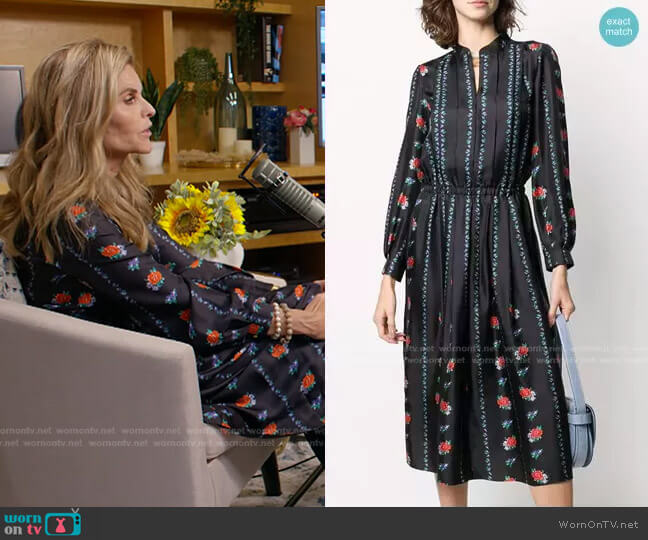 Pleated Shirt Dress by Tory Burch worn by Maria Shriver  on Today
