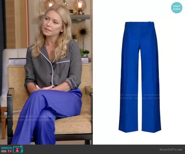 Low Waist Trousers by Aleksandre Akhalkatsishvili worn by Kelly Ripa  on Live with Kelly & Ryan