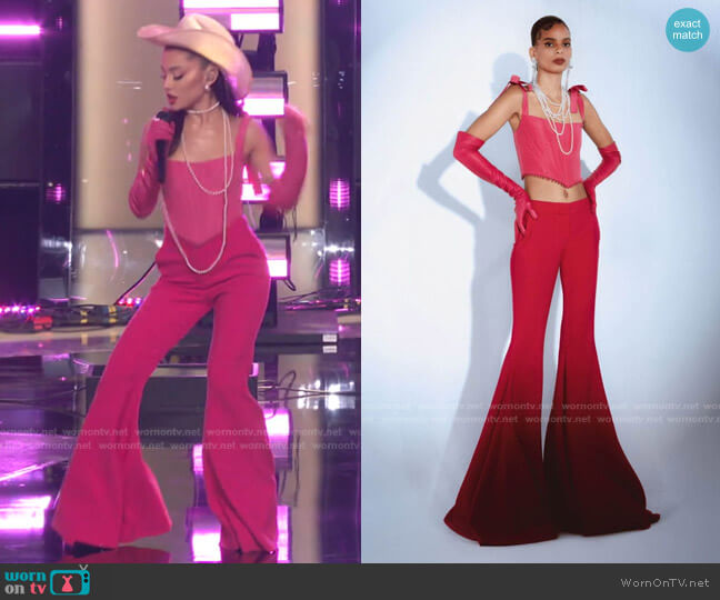Fall 2021 Collection by Prabal Gurung worn by Ariana Grande  on The Voice