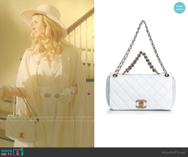 Quilted Leather Pondicherry Medium Flap Bag by Chanel worn by Amanda Carrington (Eliza Bennett) on Dynasty