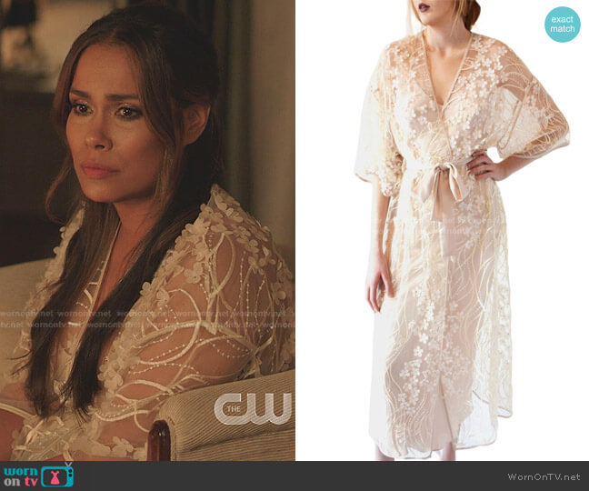 Kiss Floral Tulle Robe by Rya Collection worn by Cristal Jennings (Daniella Alonso) on Dynasty