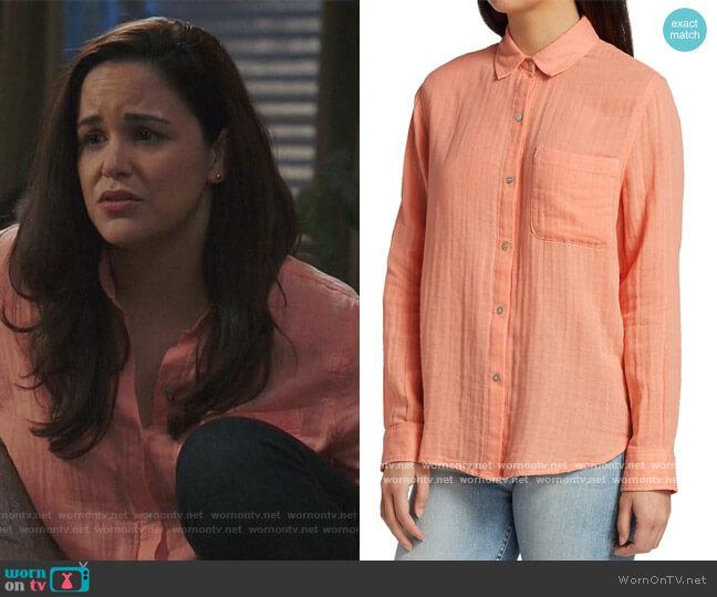 Ellis Gauze Collared Shirt by Rails worn by Amy Santiago (Melissa Fumero) on Brooklyn Nine-Nine