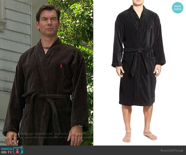 Cotton Fleece Robe by Ralph Lauren worn by Jerry O'Connell on The Talk
