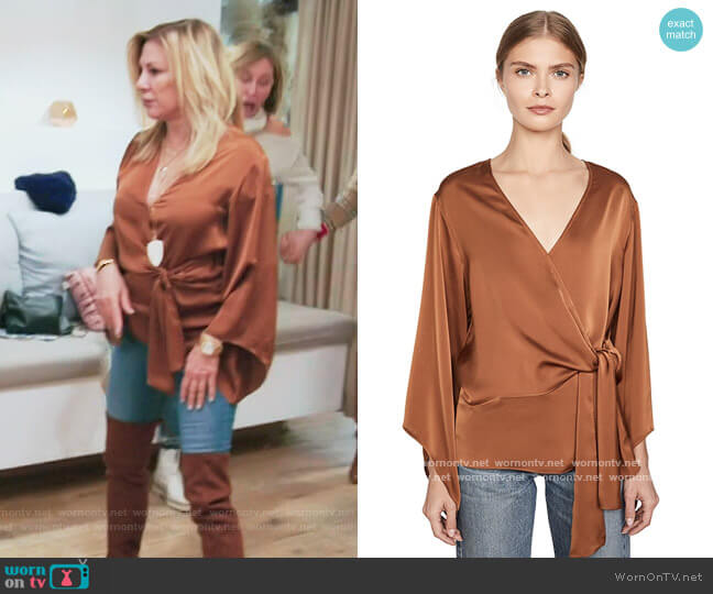 Cassandra Blouse by Ramy Brook worn by Ramona Singer  on The Real Housewives of New York City