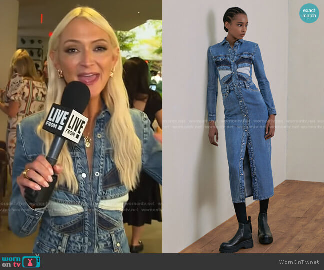 Fall 2021 Ready-To-Wear Collection by RED Valentino worn by Zanna Roberts Rassi on E! News Daily Pop
