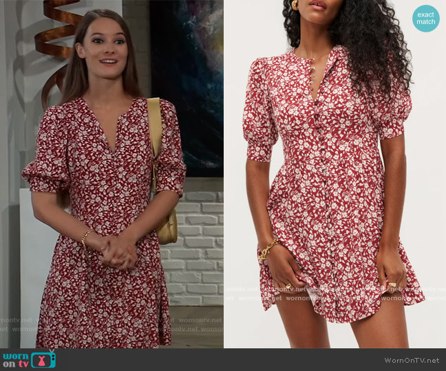 Laylin Dress by Reformation worn by Esme (Avery Kristen Pohl) on General Hospital