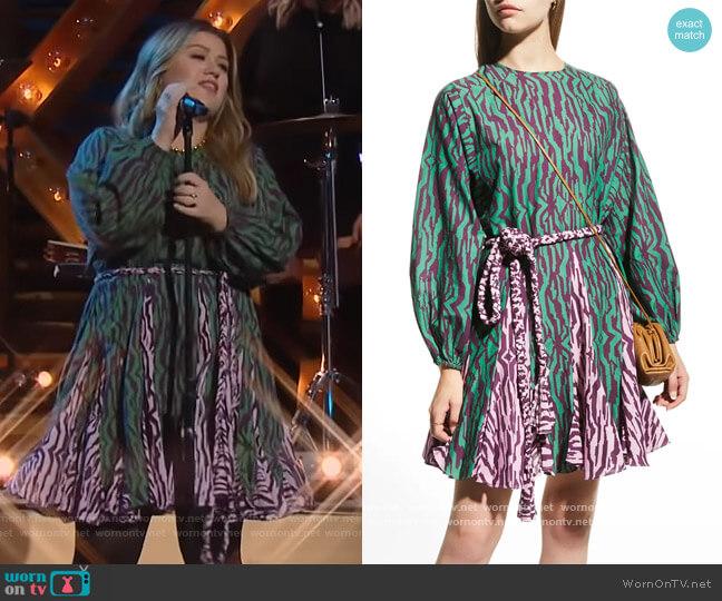 Ella Dress by Rhode worn by Kelly Clarkson  on The Kelly Clarkson Show