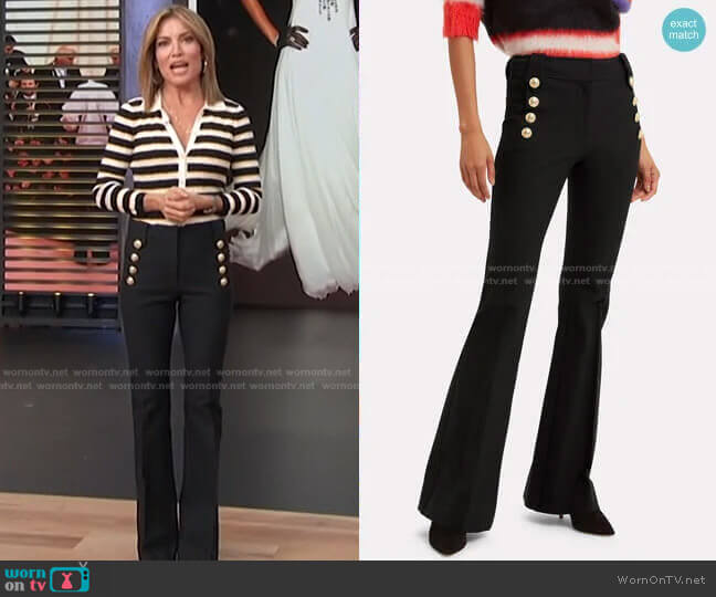 Robertson Trousers by Derek Lam 10 Crosby worn by Kit Hoover  on Access Hollywood