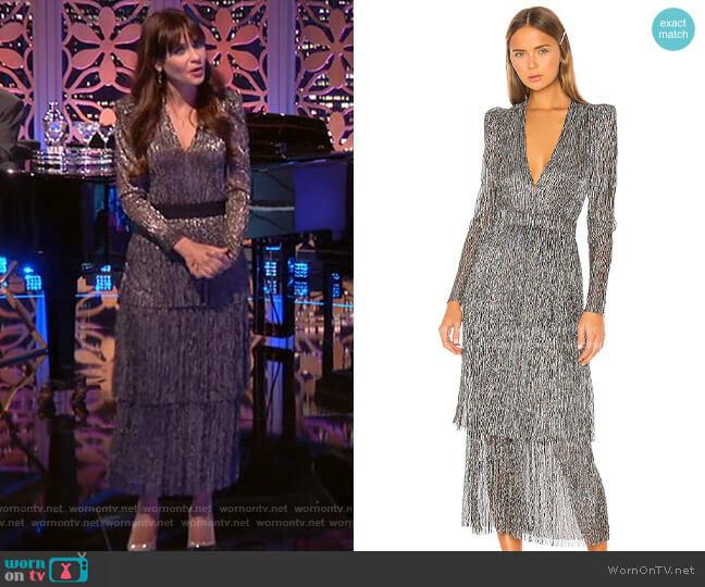 Sabina Musayev Carry Dress worn by Zooey Deschanel  on Celebrity Dating Game