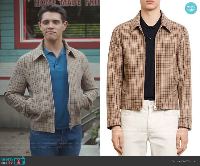 Carnaby Plaid Jacket by Sandro worn by Casey Cott on Riverdale