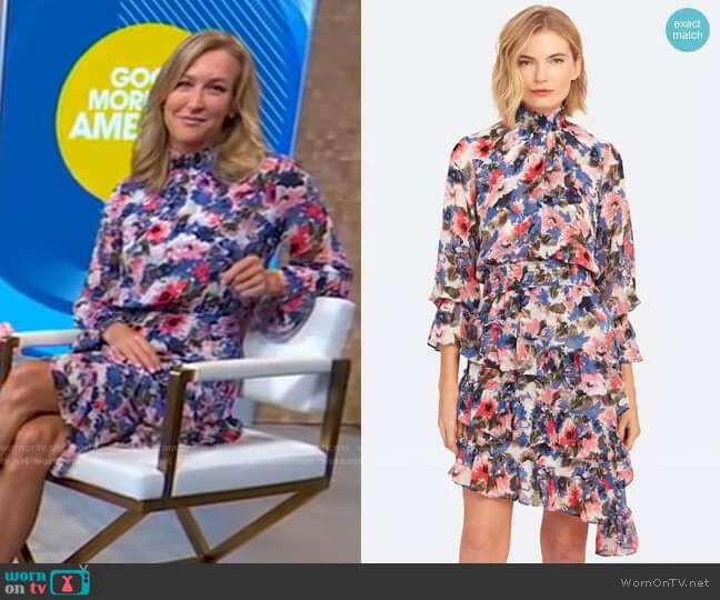 Savanna Dress by Misa Los Angeles worn by Lara Spencer  on Good Morning America