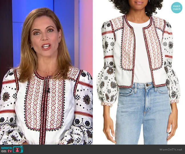 Shilin Jacket by Veronica Beard worn by Natalie Morales  on Today