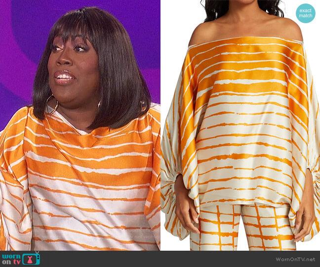 Bellagio Striped Blouse by Silvia Tcherassi worn by Sheryl Underwood  on The Talk