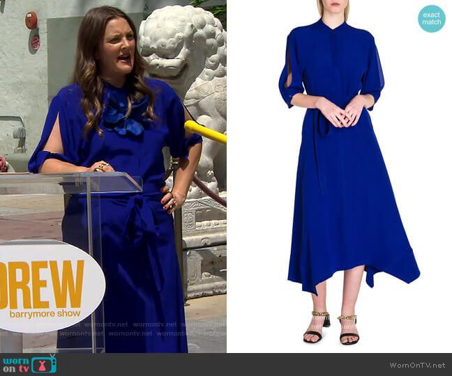 Olivia Silk Midi Dress by Stella McCartney worn by Drew Barrymore  on The Drew Barrymore Show