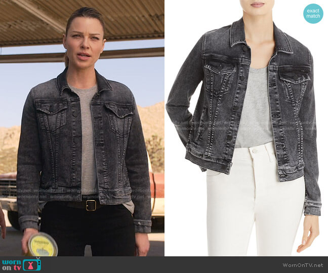 The Pocket Bruiser Jacket in Train Stops by Mother worn by Chloe Decker (Lauren German) on Lucifer
