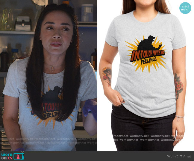 In Touch with My Feelings Tee by Wow Great Designs at Threadless worn by Ella Lopez (Aimee Garcia) on Lucifer