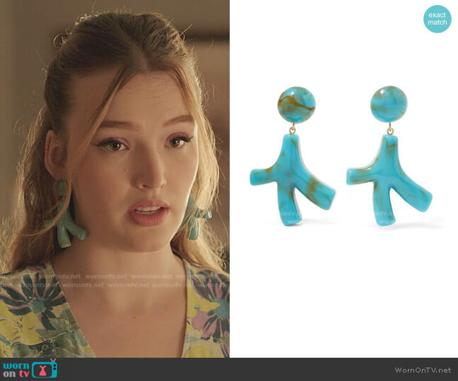 Noemie Earrings in Turquoise by Valet worn by Kirby Anders (Maddison Brown) on Dynasty
