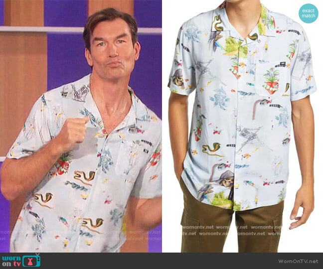 Gallery Nathan Short Sleeve Button-Up Camp Shirt by Vans worn by Jerry O'Connell on The Talk