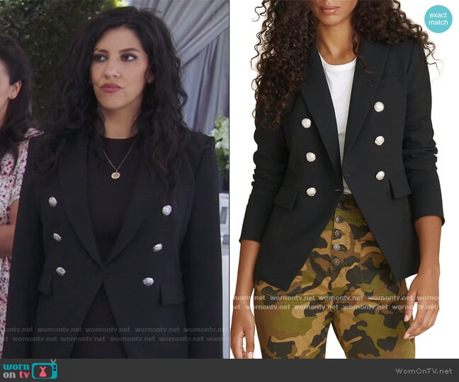 Miller Dickey Jacket by Veronica Beard worn by Rosa Diaz (Stephanie Beatriz) on Brooklyn Nine-Nine