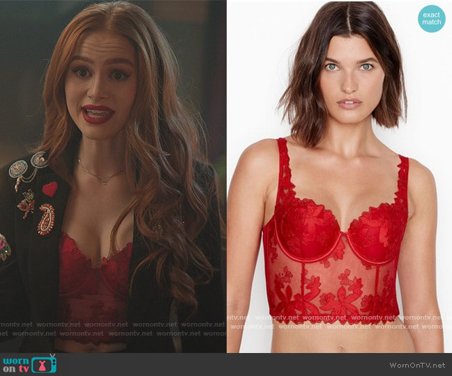 Floral Lace Bustier by Victoria's Secret worn by Cheryl Blossom (Madelaine Petsch) on Riverdale