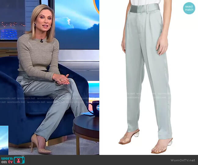 Wonka Trousers by Ba&Sh worn by Amy Robach  on Good Morning America