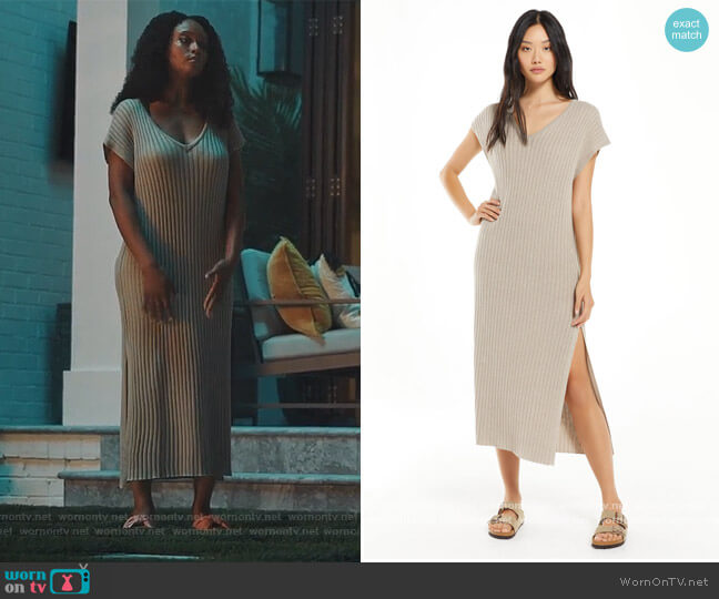 Sweater Dress by WFH worn by Angela Vaughn (Yaya DaCosta) on Our Kind of People