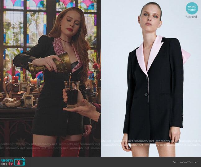Combination Bow Blazer Dress by Zara worn by Cheryl Blossom (Madelaine Petsch) on Riverdale