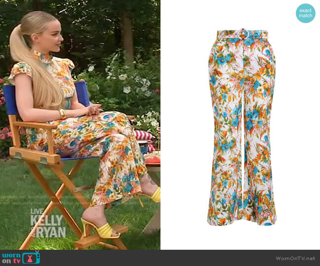 Estelle Pants by Zimmermann worn by Dove Cameron on Live with Kelly and Ryan