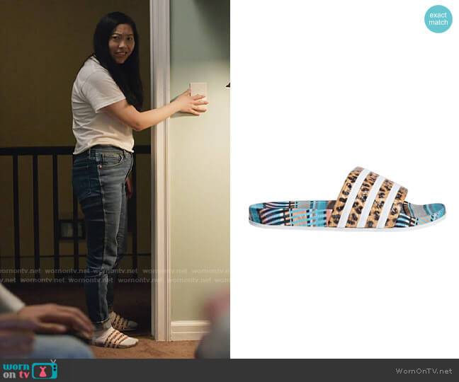 Adidas Adilette Brazillian Dance worn by Nora Lum (Awkwafina) on Awkwafina is Nora From Queens
