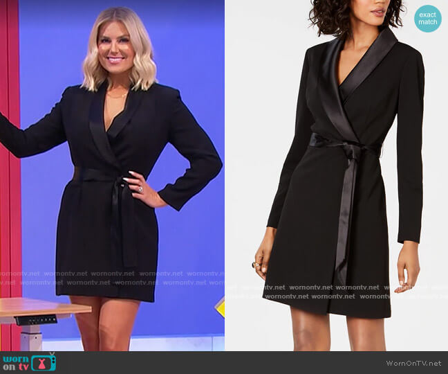 Adrianna Papell Tuxedo Sheath Dress worn by Rachel Reynolds  on The Price is Right