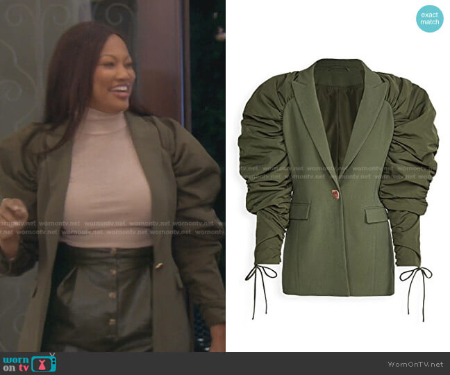 Interlace Jacket by Aje worn by Garcelle Beauvais  on The Real Housewives of Beverly Hills