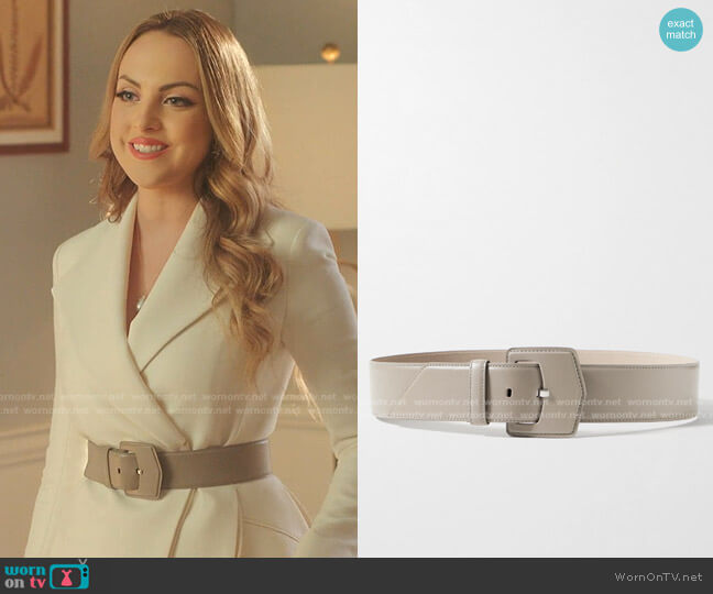 Leather Waist Belt by Alaia worn by Fallon Carrington (Elizabeth Gillies) on Dynasty