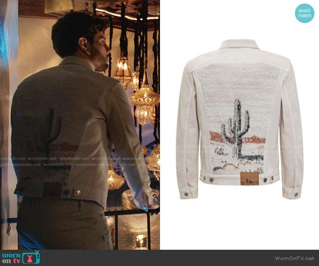 The Morning Horse Denim Jacket by Alanui worn by Sam Flores (Rafael de la Fuente) on Dynasty