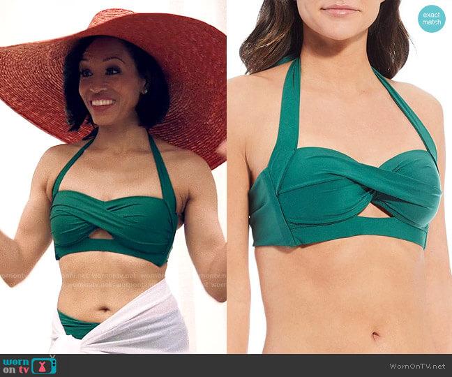 Alex Marie Solid Cutout Twist Halter Swim Top worn by Charley Bordelon West (Dawn-Lyen Gardner) on Queen Sugar