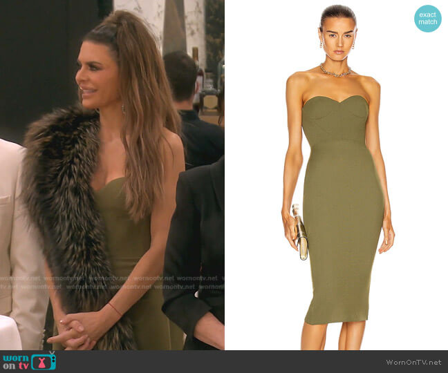 Kye Dress by Alex Perry worn by Lisa Rinna  on The Real Housewives of Beverly Hills