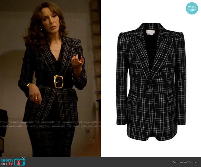 Alexander McQueen Checked Blazer worn by Bette Porter (Jennifer Beals) on The L Word Generation Q