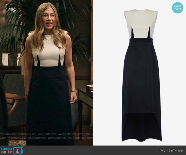 Alexander McQueen Oxbridge Flannel Tailored Dress worn by Alex Levy (Jennifer Aniston) on The Morning Show