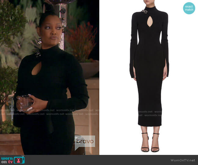 Chain Turtleneck Midi Dress by Alexander Wang worn by Garcelle Beauvais  on The Real Housewives of Beverly Hills