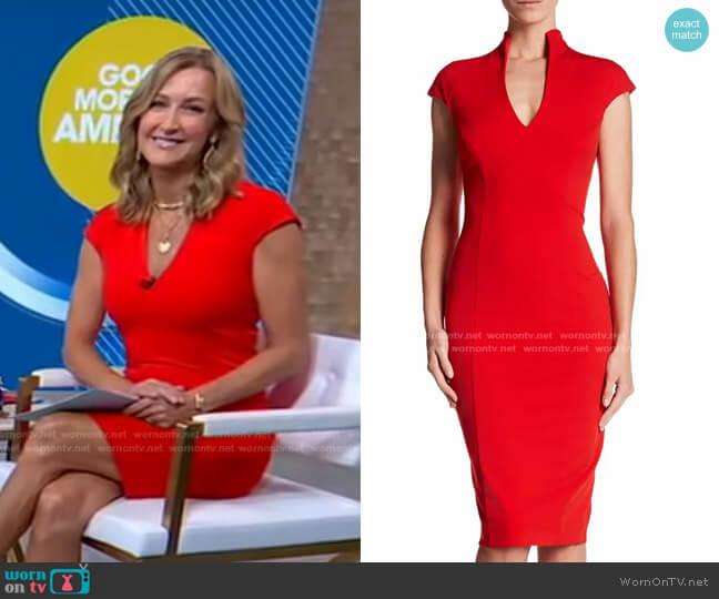 Scuba Midi Sheath Dress by Alexia Admor worn by Lara Spencer  on Good Morning America
