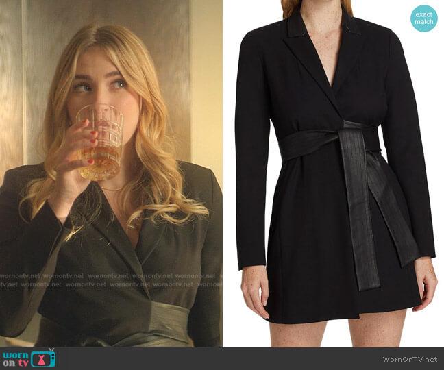 Rachel Blazer Mini Dress by Alexis worn by Amanda Carrington (Eliza Bennett) on Dynasty