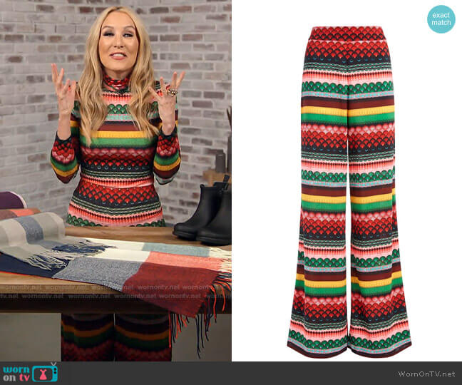 Athena Trousers by Alice + Olivia worn by Chassie Post  on Today