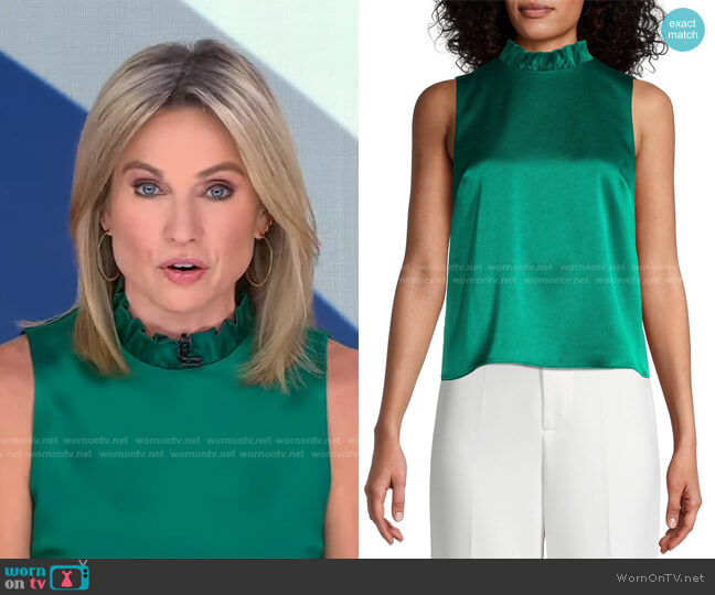 Henrietta Sleveless Blouse by Alice + Olivia worn by Amy Robach  on Good Morning America