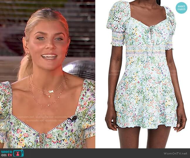 Crawford Mini Dress by Alice + Olivia worn by Amanda Kloots on GMA