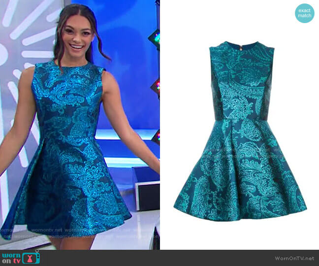Alice + Olivia Stasia Dress worn by Alexis Gaube  on The Price is Right