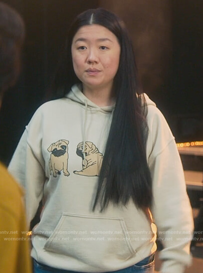 Alice's pug graphic hoodie on Good Trouble