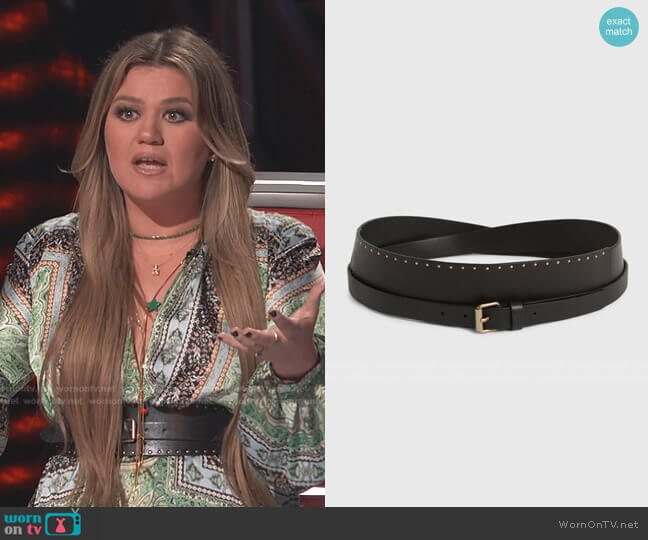 Alcor Belt by All Saints worn by Kelly Clarkson  on The Voice