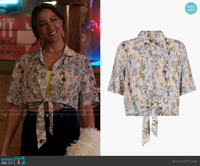 All Saints Leni Masala Shirt worn by Maria DeLuca (Heather Hemmens) on Roswell New Mexico